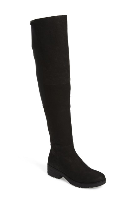 Item - Black Loft Over The Knee Otk Stretchy Comfort (B3 Boots/Booties Size US 7 Regular (M, B)