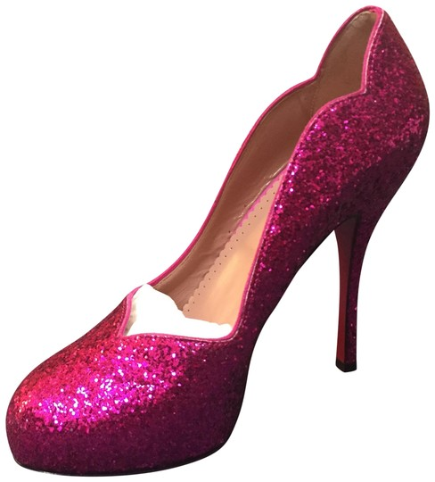 RED Valentino Sparkle Glitter Pink Pumps Image 0