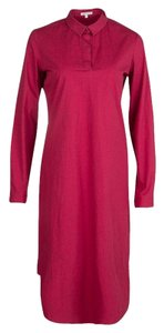 Red Maxi Dress by PAULE KA Cotton Longsleeve