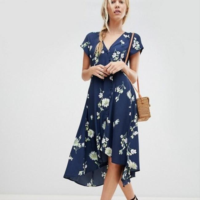 Blue Floral Maxi Dress by Free People Image 1