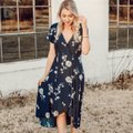 Blue Floral Maxi Dress by Free People Image 2