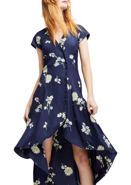 Blue Floral Maxi Dress by Free People Image 4