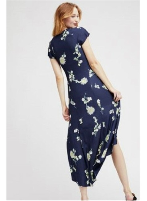 Blue Floral Maxi Dress by Free People Image 5