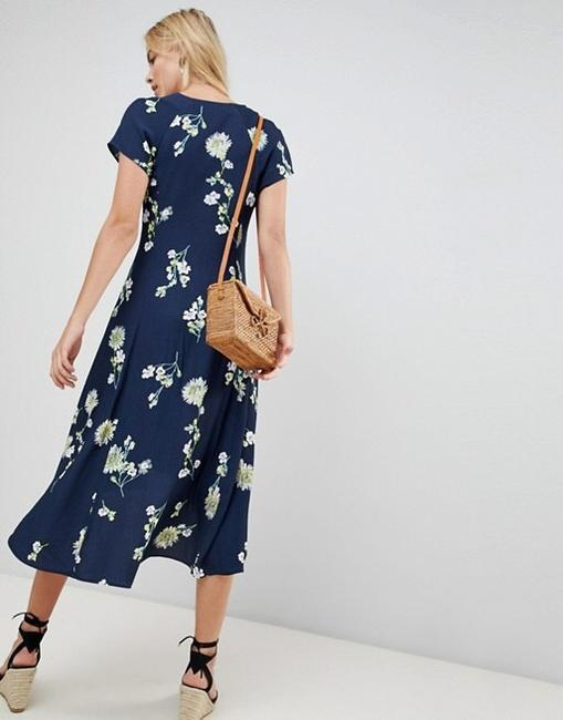 Blue Floral Maxi Dress by Free People Image 7