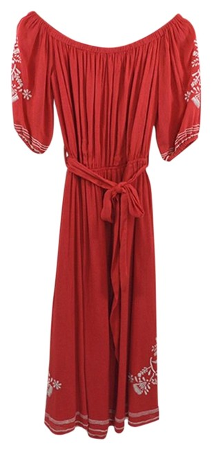Item - Red / White The Shoulder #185-20 Long Casual Maxi Dress Size 0 (XS)