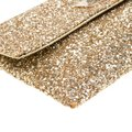 Anya Hindmarch Coated Fabric Leather Glitter Suede Gold Clutch Image 9