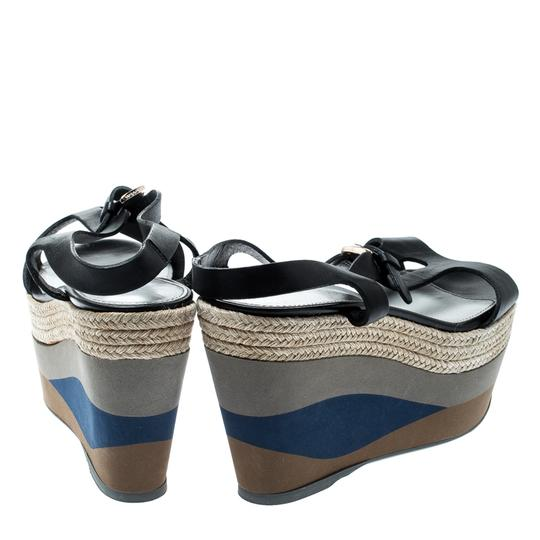 Sergio Rossi Leather Ankle Strap Rubber Black Sandals Image 2