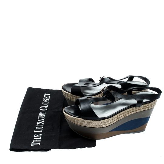 Sergio Rossi Leather Ankle Strap Rubber Black Sandals Image 6