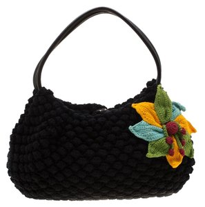 Sonia Rykiel Crochet Fabric Hobo Bag