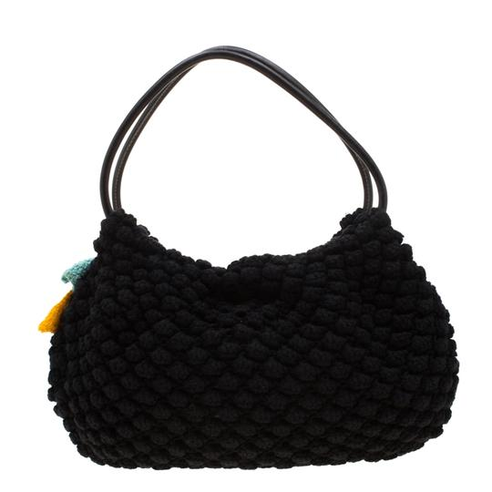 Sonia Rykiel Crochet Fabric Hobo Bag Image 1