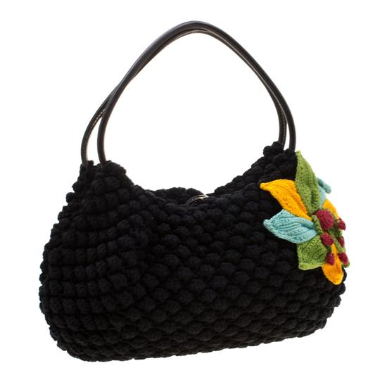 Sonia Rykiel Crochet Fabric Hobo Bag Image 3