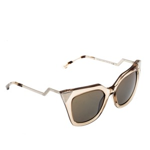 Fendi Fendi Brown Blue Mirrored FF0060/S Iridia Cat Eye Sunglasses