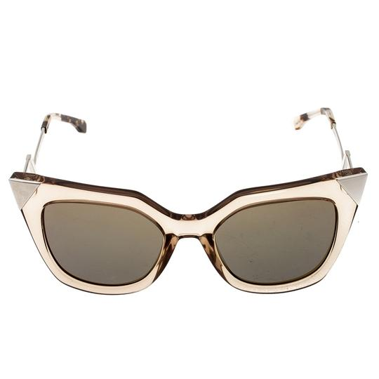 Fendi Fendi Brown Blue Mirrored FF0060/S Iridia Cat Eye Sunglasses Image 1