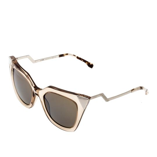 Fendi Fendi Brown Blue Mirrored FF0060/S Iridia Cat Eye Sunglasses Image 2
