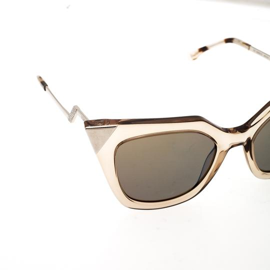 Fendi Fendi Brown Blue Mirrored FF0060/S Iridia Cat Eye Sunglasses Image 3