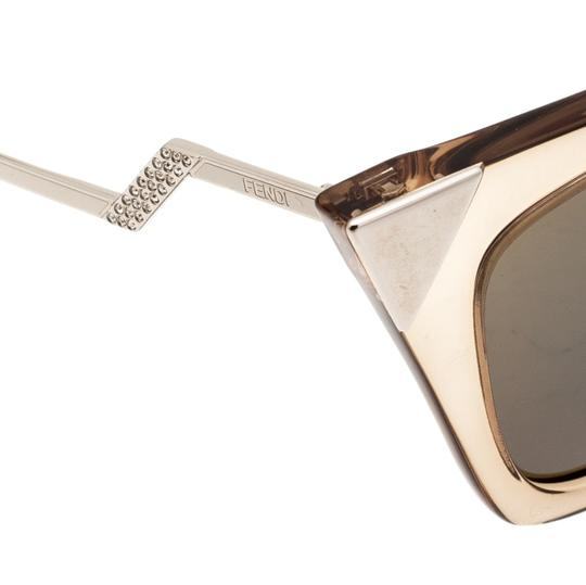 Fendi Fendi Brown Blue Mirrored FF0060/S Iridia Cat Eye Sunglasses Image 6