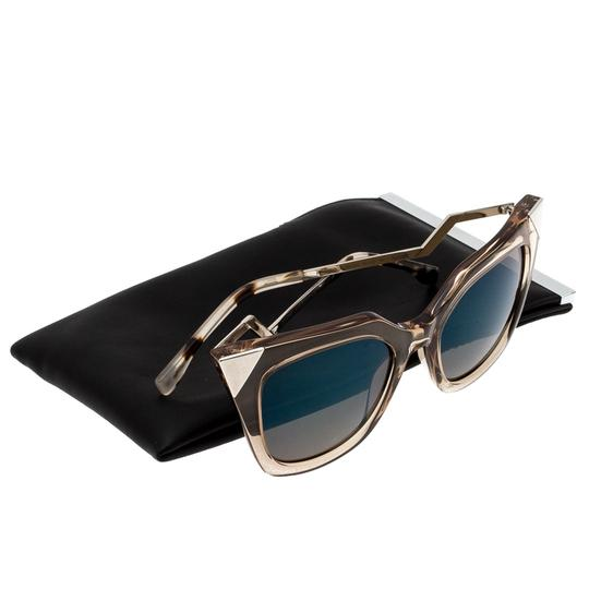 Fendi Fendi Brown Blue Mirrored FF0060/S Iridia Cat Eye Sunglasses Image 7