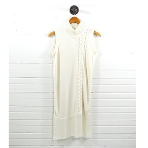 Timo Weiland short dress IVORY #cable Knit #cotton #cashmere #fall #sweater on Tradesy