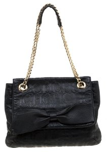 Carolina Herrera Leather Fabric Shoulder Bag