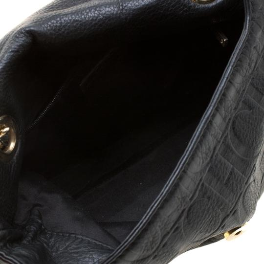 Carolina Herrera Leather Fabric Shoulder Bag Image 8