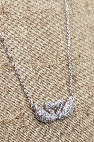Ocean Fashion Silver double swan necklace Image 5