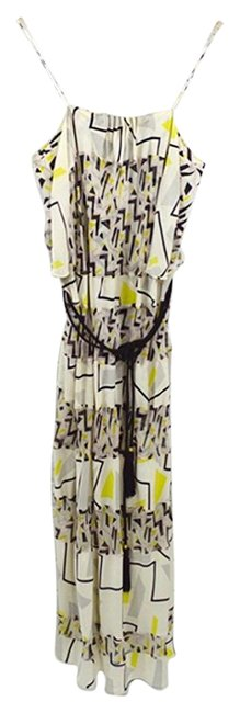 Item - Black / Ivory Silk #185-24 Long Casual Maxi Dress Size 4 (S)