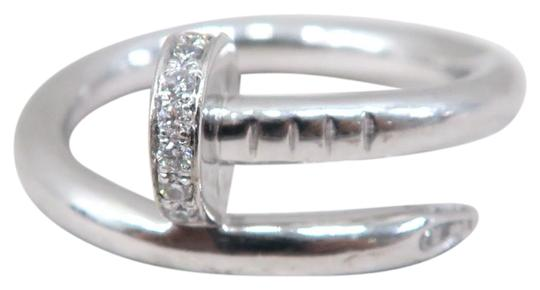 Preload https://img-static.tradesy.com/item/25781904/cartier-white-gold-diamond-juste-un-clou-ring-0-1-540-540.jpg