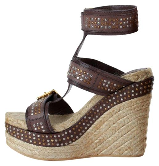 Preload https://img-static.tradesy.com/item/25781938/alexander-mcqueen-brown-studded-leather-ankle-strap-espadrille-wedge-sandals-size-eu-37-approx-us-7-0-1-540-540.jpg