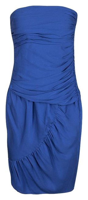 Preload https://img-static.tradesy.com/item/25781940/catherine-malandrino-blue-silk-ruched-strapless-mid-length-short-casual-dress-size-6-s-0-1-650-650.jpg