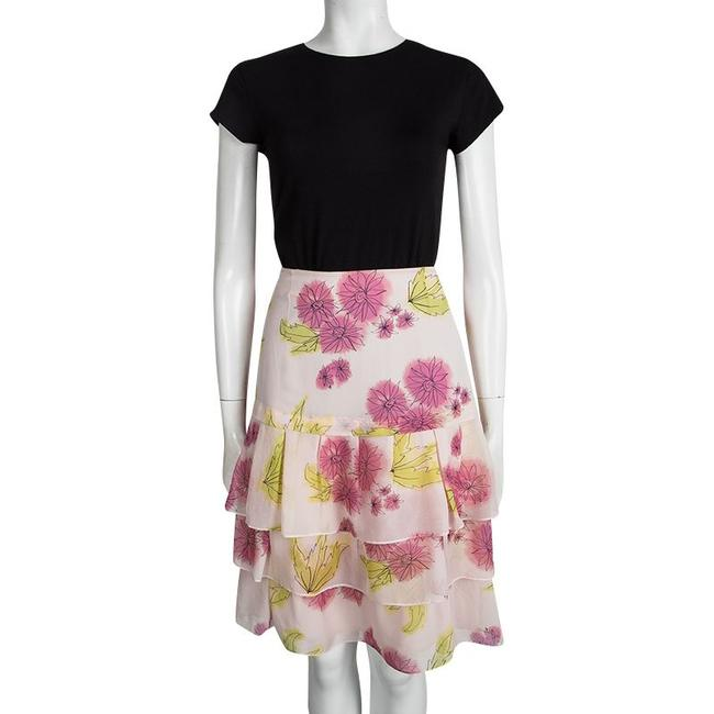 Dior Floral Silk Tiered Mini Skirt Multicolor Image 1