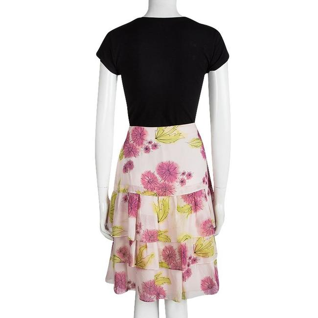 Dior Floral Silk Tiered Mini Skirt Multicolor Image 2