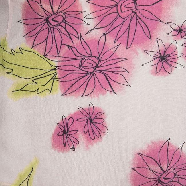 Dior Floral Silk Tiered Mini Skirt Multicolor Image 4