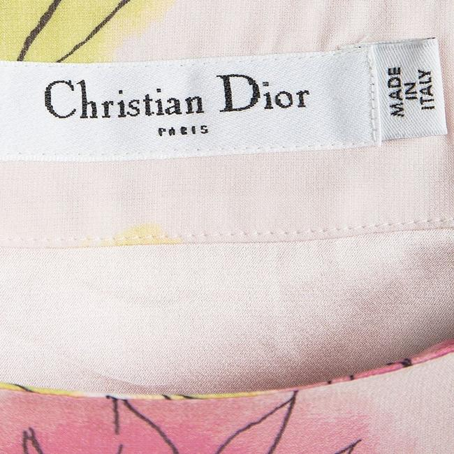 Dior Floral Silk Tiered Mini Skirt Multicolor Image 5