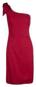 Red Maxi Dress by Valentino Detail One Shoulder Viscose Polyester Elastane
