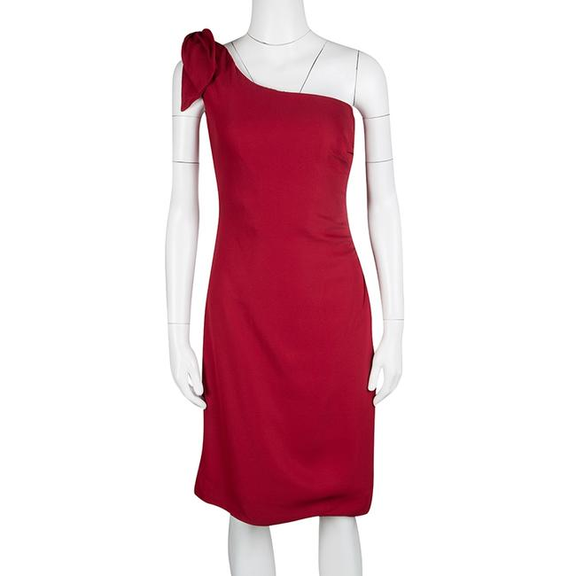 Red Maxi Dress by Valentino Detail One Shoulder Viscose Polyester Elastane Image 1