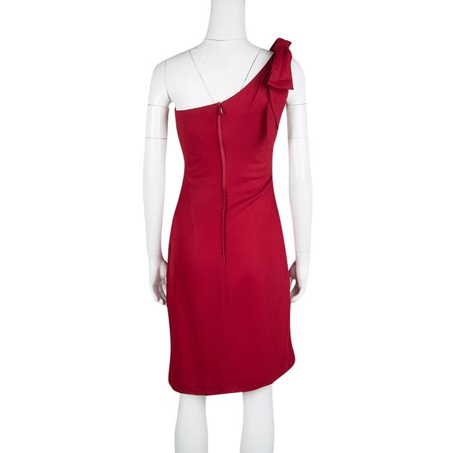 Red Maxi Dress by Valentino Detail One Shoulder Viscose Polyester Elastane Image 2