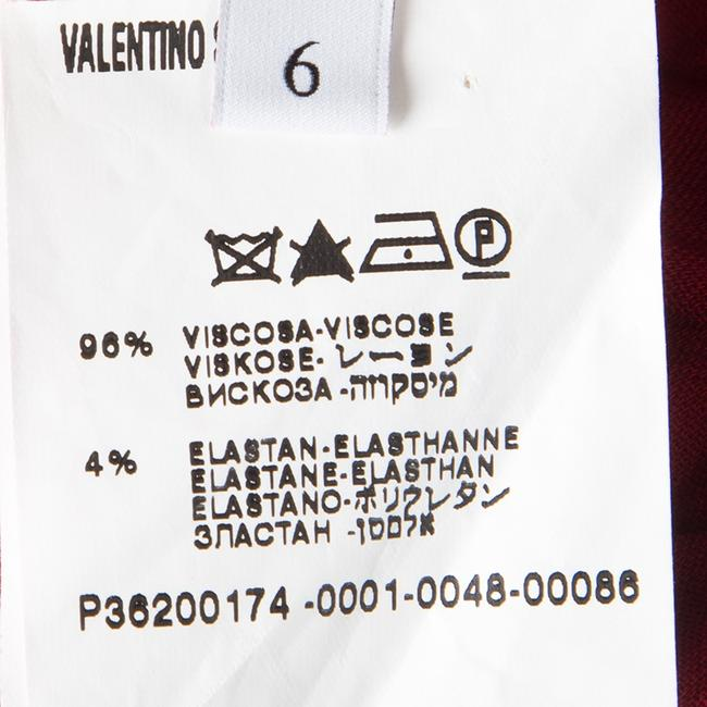 Red Maxi Dress by Valentino Detail One Shoulder Viscose Polyester Elastane Image 3