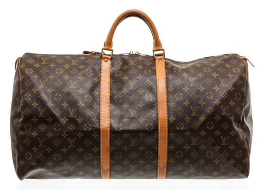 Preload https://img-static.tradesy.com/item/25781989/louis-vuitton-duffle-keepall-monogram-55-cm-luggage-brown-canvas-and-leather-weekendtravel-bag-0-0-540-540.jpg