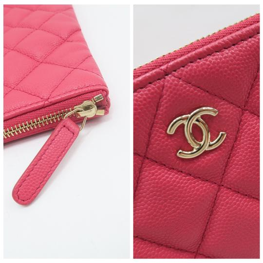 Chanel Quilted O-case Large Coral Clutch Image 4