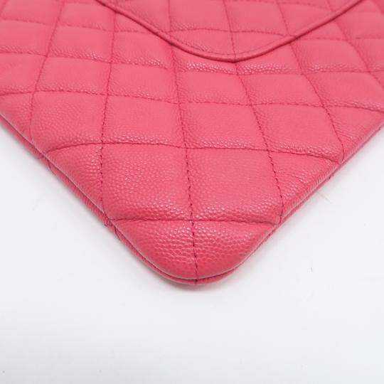 Chanel Quilted O-case Large Coral Clutch Image 5