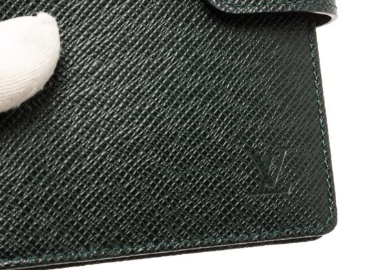 Louis Vuitton Louis Vuitton Green Taiga Leather Small Ring Agenda Holder Cover Image 4