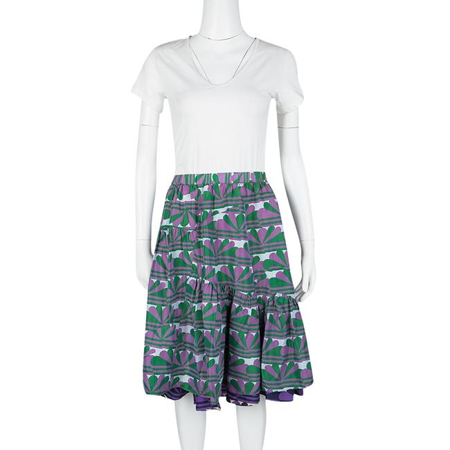 Marc Jacobs Printed Ruffle Silk Skirt Multicolor Image 1