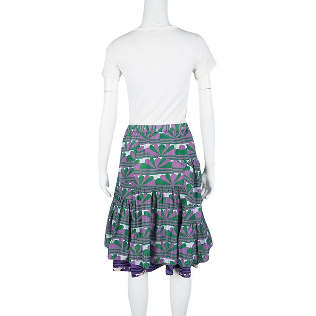 Marc Jacobs Printed Ruffle Silk Skirt Multicolor Image 2