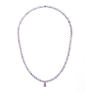 sterling silver Marquise Amethyst Eternity Necklace