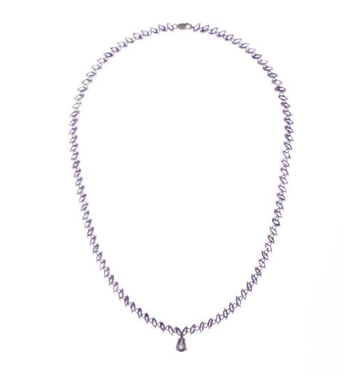 Preload https://img-static.tradesy.com/item/25782049/silver-marquise-amethyst-eternity-necklace-0-0-540-540.jpg