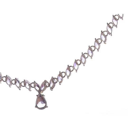 sterling silver Marquise Amethyst Eternity Necklace Image 2