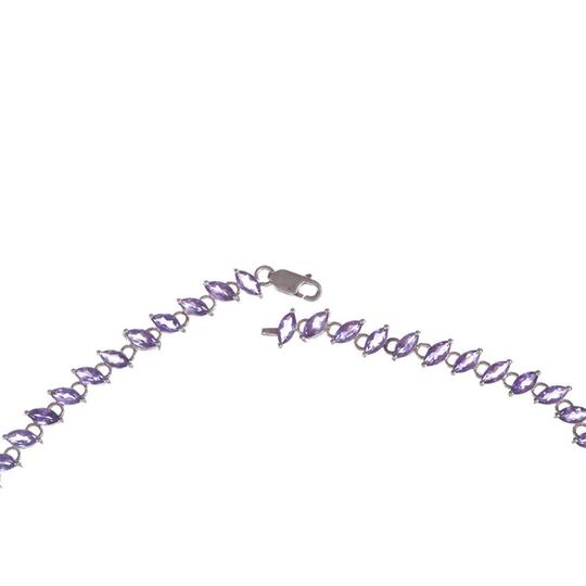 sterling silver Marquise Amethyst Eternity Necklace Image 3