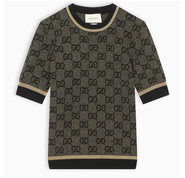 Preload https://img-static.tradesy.com/item/25782051/gucci-black-xs-df-new-gg-with-lame-blouse-size-0-xs-0-0-650-650.jpg