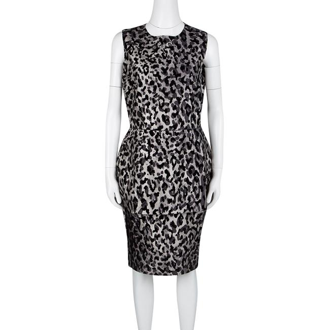 Dolce&Gabbana short dress Grey Monchrome Silk Viscose on Tradesy Image 1