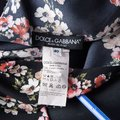 Dolce&Gabbana Floral Silk Checked Top Black Image 4